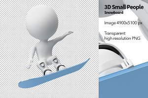 3D Small People - Snowboard