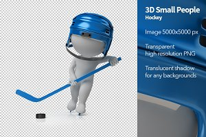 3D Small People - Hockey