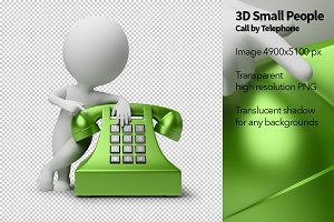 3D Small People - Call by Telephone