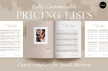 Services Pricing List Templates