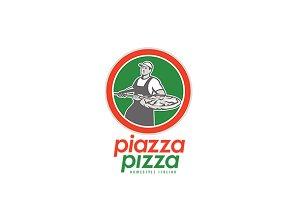 Piazza Pizza Homestyle Italian Logo