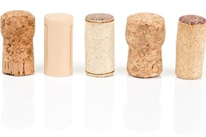 Various types of wine corks