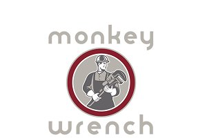 Monkey Wrench Plumbing Services Logo