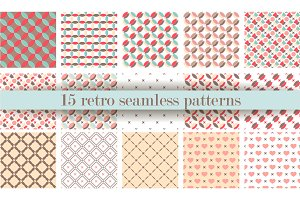 15 retro Seamless patterns V.5