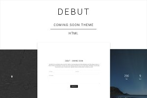 Debut - Coming Soon HTML Template