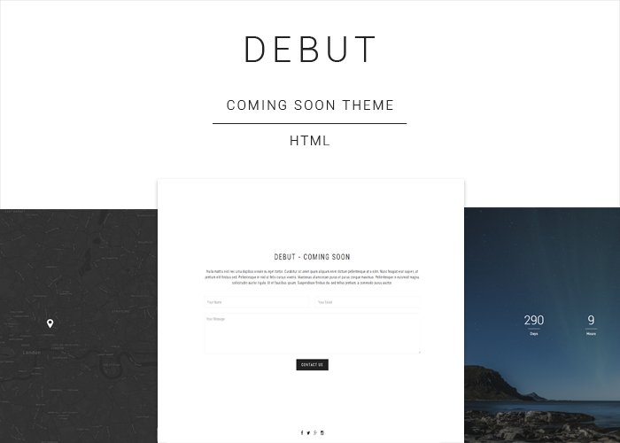 Debut - Coming Soon HTML Template ~ HTML/CSS Themes ~ Creative Market