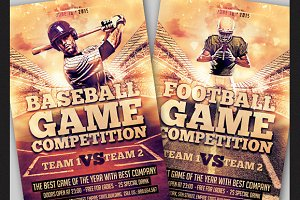 Baseball and Football Flyer