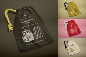 Drawstring Psd Bag Mockup