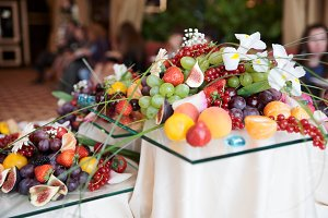 Fruits on banquet table