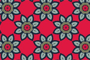 2 Flowers Seamless Pattern