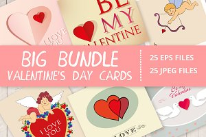 Valentine's Day cute cards bundle