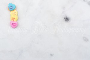 Valentine styled stock photo Marble