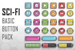 SCI-FI Basic Button Pack
