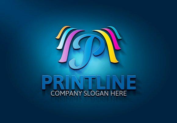 Printline / P Letter Logo