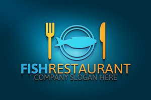 Fish Restaurant Logo