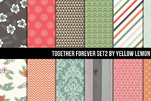 Vintage style Together Forever Set 2