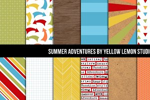Summer Adventures Digital Paper