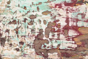 Weathered Painted Wood Background