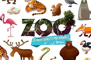 ZOO : 25 cartoon animal png HD pack