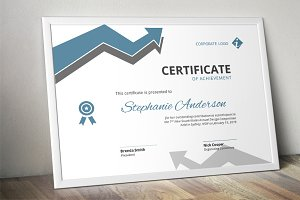 Arrow corporate Word certificate