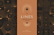 Lines - abstract boho logos