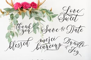 calligraphy text overlay