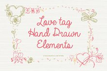 Love Tag - Hand Drawn Elements