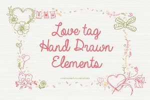 Love Tag - Hand Drawn Elements