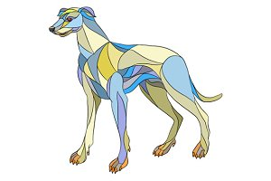 Greyhound Dog Side Mosaic