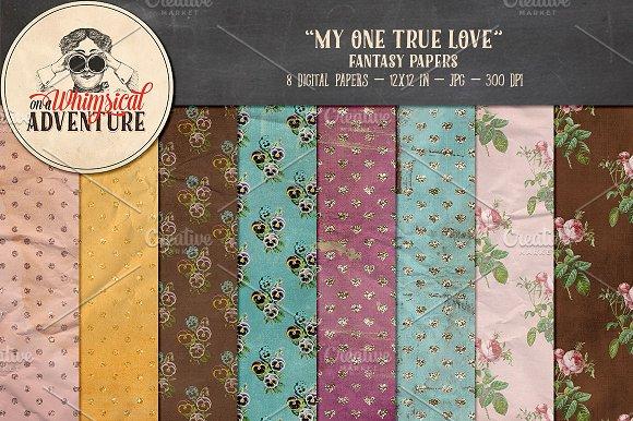 Digital papers - My One True Love
