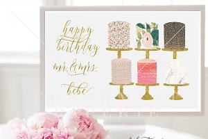watercolor cake clipart