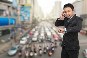 Young Businessman talking mobile