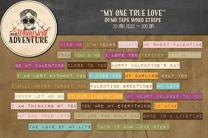 Word Strips - My One True Love