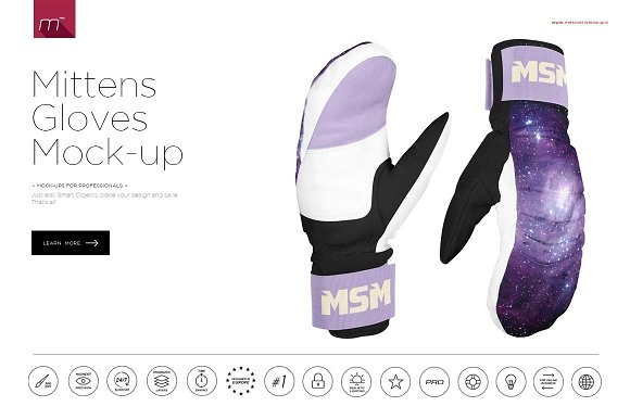 Download Mittens Gloves Mock-up