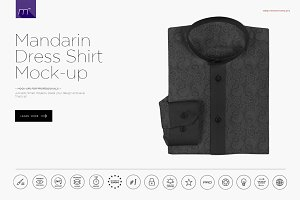 Mandarin Dress Shirt Mock-up