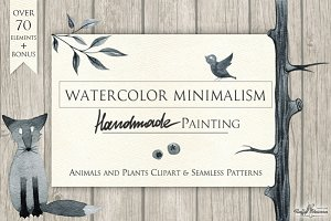 "Watercolor ""Minimalism"" Set"