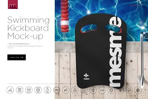 Swimming Kickboard Mock-up