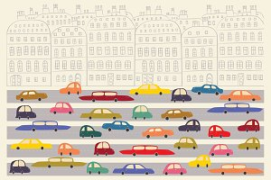 Cute cars in the city