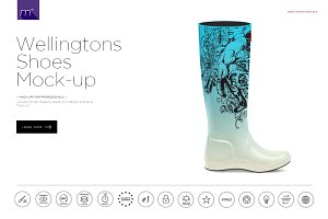 Wellingtons Boots Mock-up