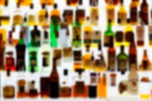 Bar bottles, blur