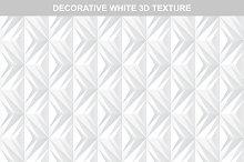 White decorative 3d texture.Seamless