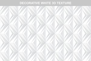 White decorative 3d texture.Seamless