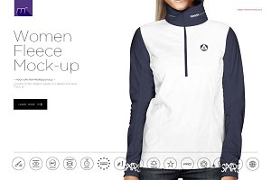 Women Fleece Pullover Mock-up