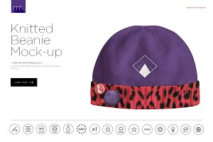 Knitted Beanie Mock-up