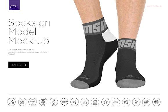 Socks on Model Mock-up