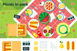 Summer Picnic in Park