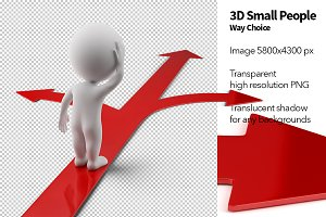 3D Small People - Way Choice