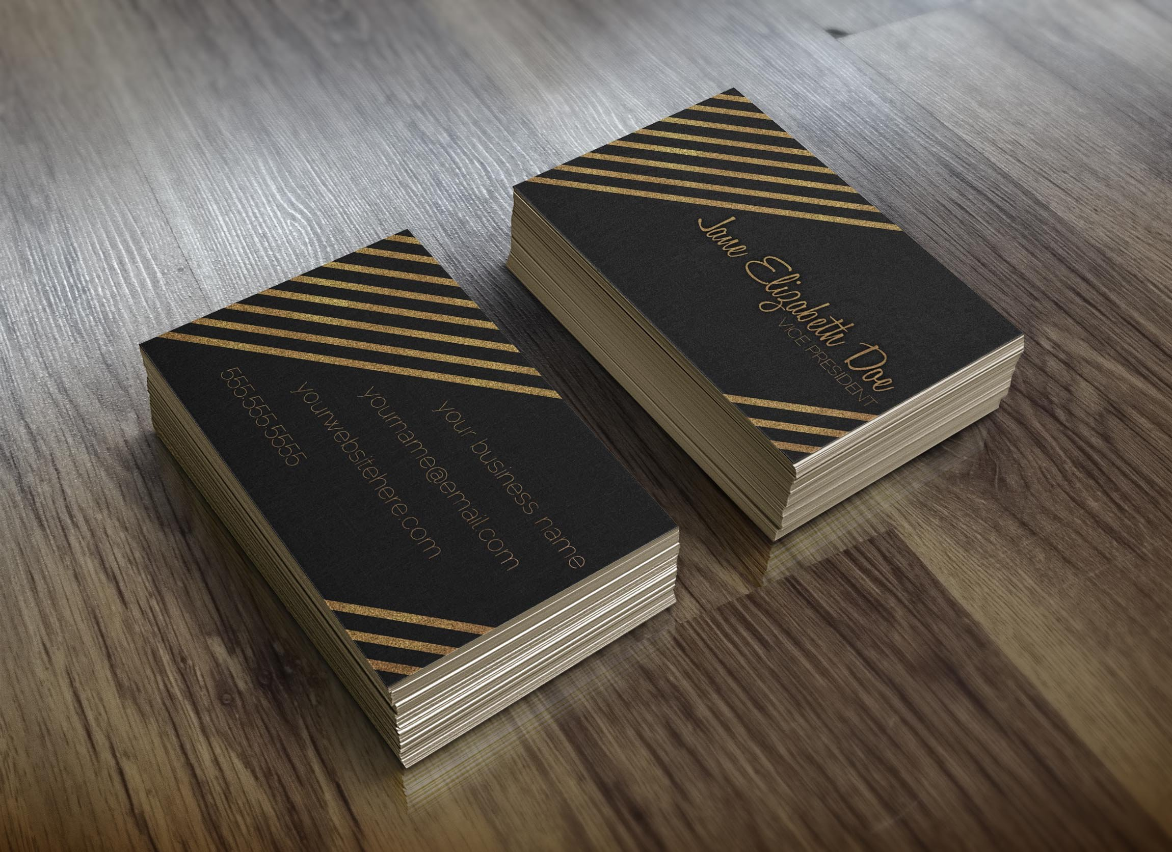 Black & Gold Glitter Business Card ~ Business Card Templates ...