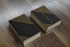 Black & Gold Glitter Business Card