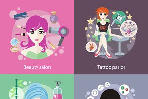 Salons, Beauty Tattoo, Piercing